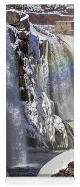 Great Falls And A Rainbow Yoga Mat