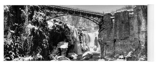 Great Falls In The Winter Yoga Mat