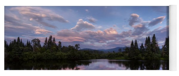 Great North Woods Sunset In New Hampshire Yoga Mat