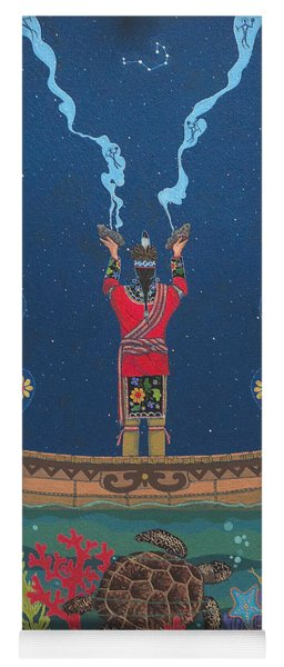 Yoga Mat featuring the painting Great Teacher - Sedwa'gowa'ne by Chholing Taha