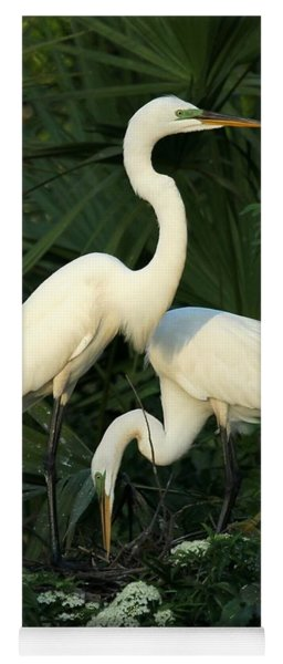 Great White Egret Mates Yoga Mat