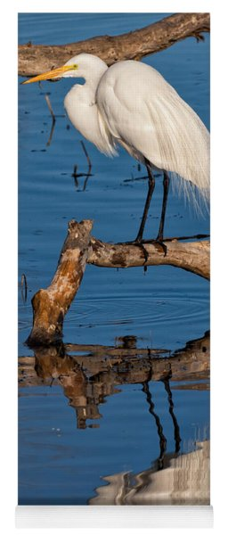 Great White Heron Fishing Yoga Mat