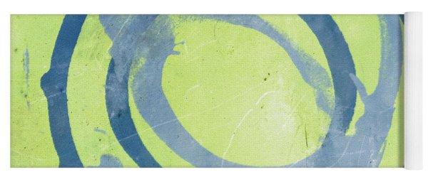 Green Blue Yoga Mat