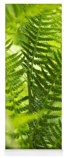 Green Fern Art Yoga Mat