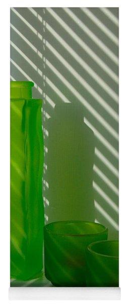 Green Green Glass Yoga Mat