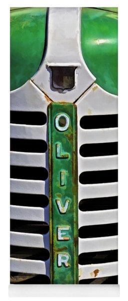Green Oliver Farm Tractor Yoga Mat