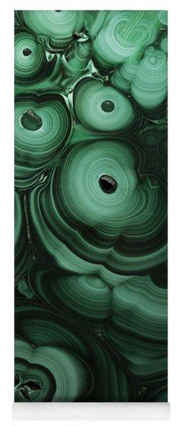 Green Patterns Of Malachite Yoga Mat