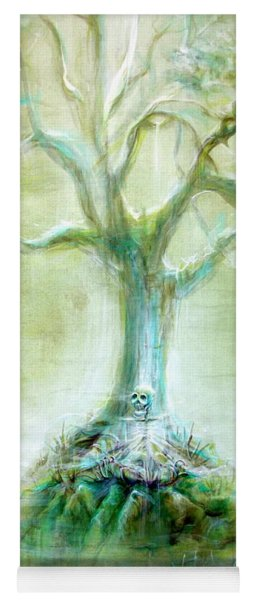 Green Skeleton Meditation Yoga Mat