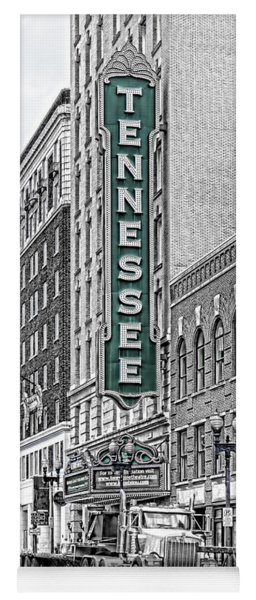 Green Tennessee Theatre Marquee Yoga Mat