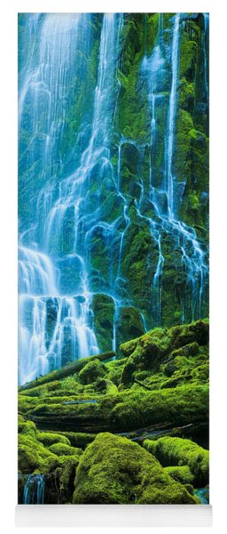 Green Waterfall Yoga Mat