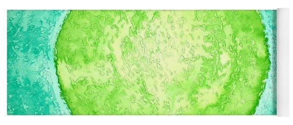 Green World Original Painting Yoga Mat