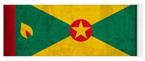 Grenada Flag Vintage Distressed Finish Yoga Mat