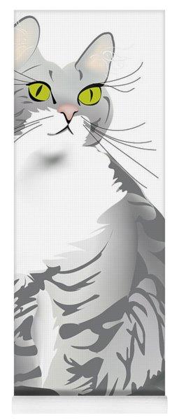 Grey Tiger Cat Yoga Mat