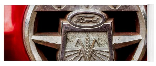 Grill Logo Detail - 1950s-vintage Ford 601 Workmaster Tractor Yoga Mat