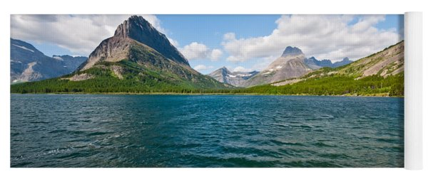 Grinnell Point From Swiftcurrent Lake Yoga Mat