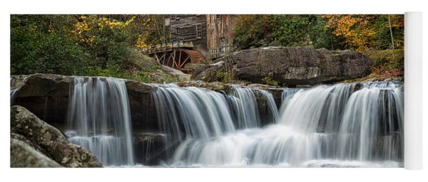 Grist Mill With Vibrant Fall Colors Yoga Mat