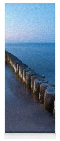 Groynes Baltic Sea Ger 3393 Yoga Mat