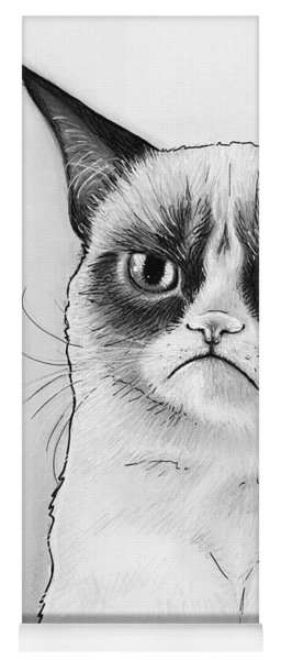 Grumpy Cat Portrait Yoga Mat
