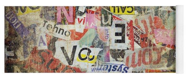 Grunge Textured Background Yoga Mat