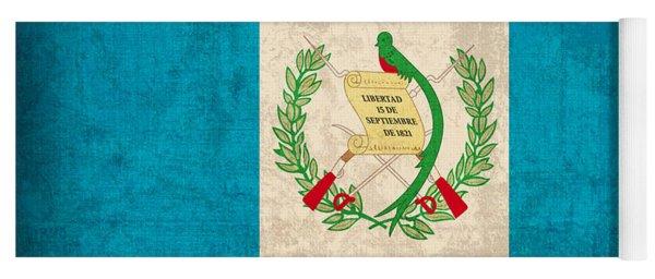 Guatemala Flag Vintage Distressed Finish Yoga Mat