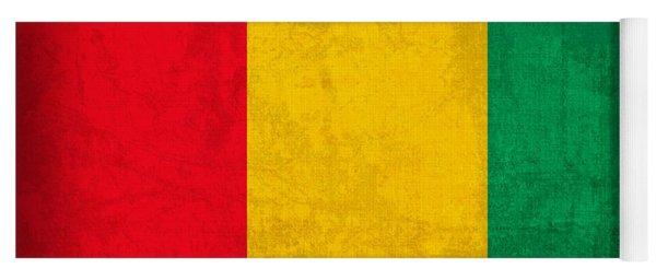 Guinea Flag Vintage Distressed Finish Yoga Mat