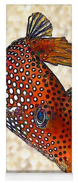 Guinea Fowl Puffer Fish Yoga Mat