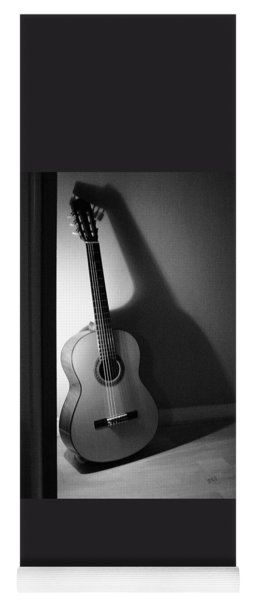 Guitar Still Life In Black And White Yoga Mat