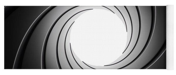 Gun Barrel From Inside Yoga Mat
