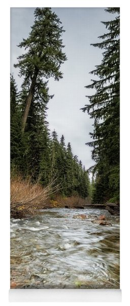 Yoga Mat featuring the photograph Hackleman Creek  by Belinda Greb