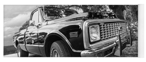 Halcyon Days - 1971 Chevy Pickup Bw Yoga Mat