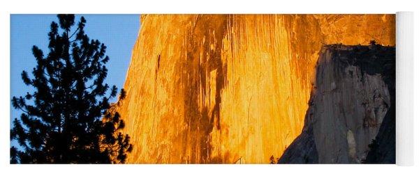 Half Dome Yosemite At Sunset Yoga Mat