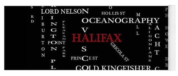 Halifax Nova Scotia Landmarks And Streets Yoga Mat