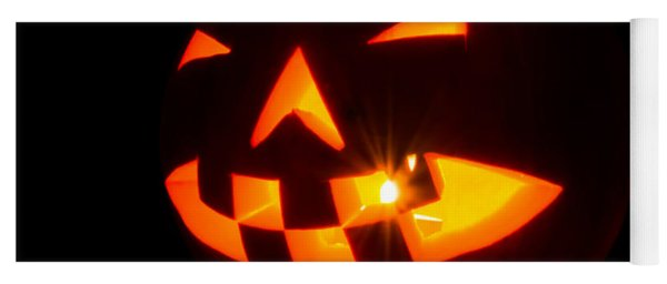 Halloween - Smiling Jack O' Lantern Yoga Mat