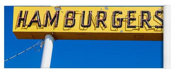 Hamburgers Old Neon Sign Yoga Mat