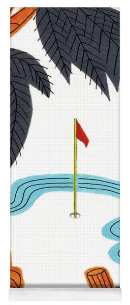 Hanafuda Golf For Cards Yoga Mat