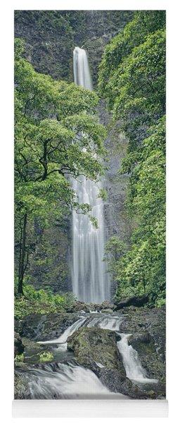100105-hanakapiai Falls, Kauai  Yoga Mat