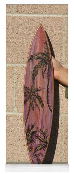 Hand Painted Palms Yoga Mat