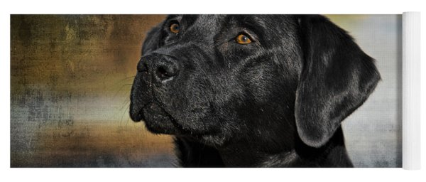 Handsome Black Lab Yoga Mat