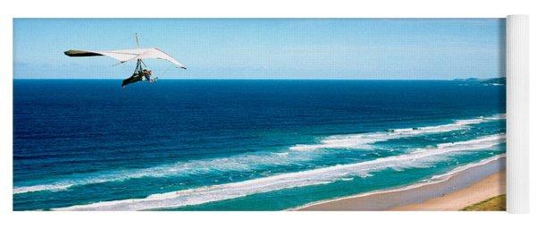 Hang Glider Over The Sea Yoga Mat