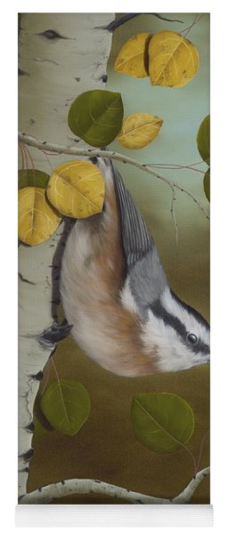 Hanging Around-red Breasted Nuthatch Yoga Mat