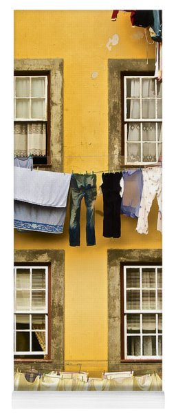 Hanging Clothes Of Old World Europe Yoga Mat