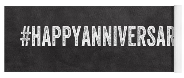 Happy Anniversary- Greeting Card Yoga Mat