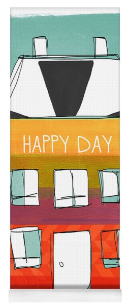 Happy Day Card Yoga Mat