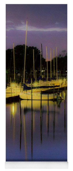 Harbor At Night Yoga Mat