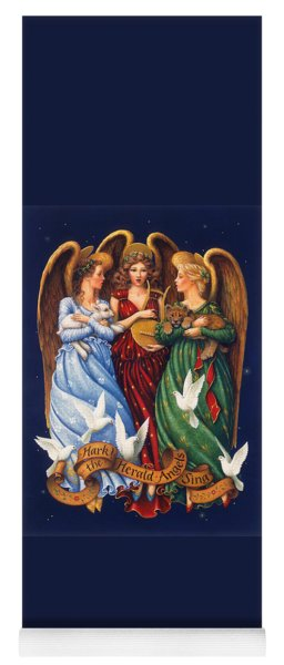 Hark The Herald Angels Sing Yoga Mat
