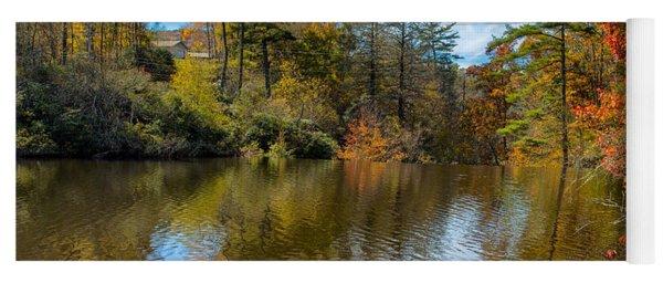 Harris Lake In Autumn Yoga Mat