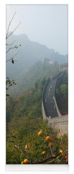 Harvest Time At The Great Wall Of China Yoga Mat