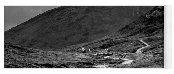 Hatcher's Pass In Black And White Yoga Mat