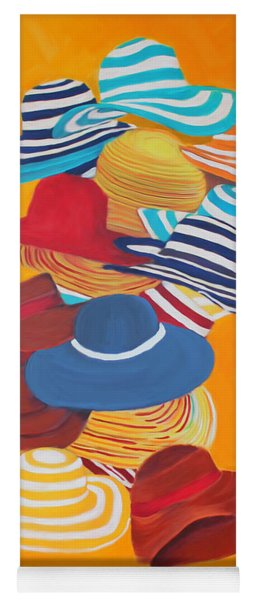Yoga Mat featuring the painting Hats Off by Deborah Boyd