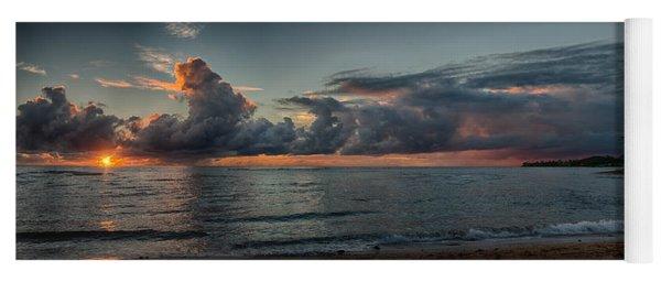 Hauula Sunrise Panorama Yoga Mat
